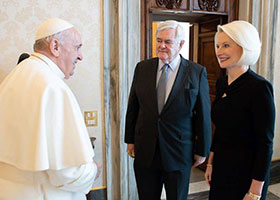 Pope Francis with Newt and Callista Gingrich